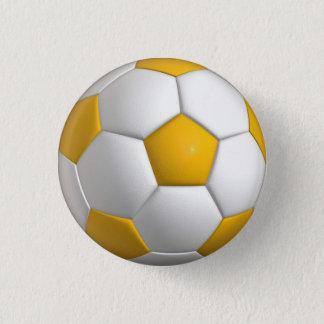 Button des Fußbalballs (futbol)/Knopf - gelbes