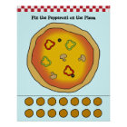 Button die Pepperonis auf dem Pizza-Spiel Poster