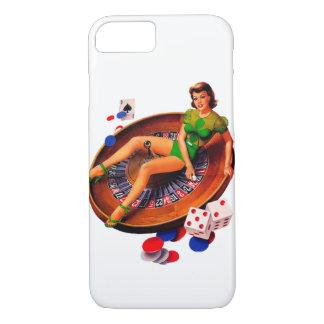 Button herauf Kasino-Mädchen Las Vegas iPhone 8/7 Hülle