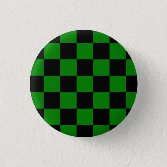 Button Karo schwarz/grün