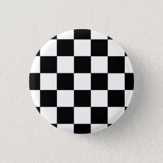 Button Karo schwarz/weiß