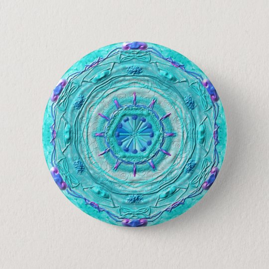 "Button Mandala 08 ""Türkis"""