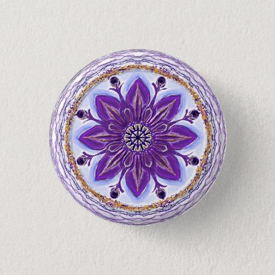 """Button Mandala 10 """"Königsblau"""""""