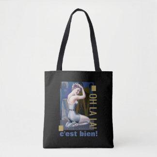 Button-Oben Mädchen-Illustrations-Taschen-Taschen Tasche
