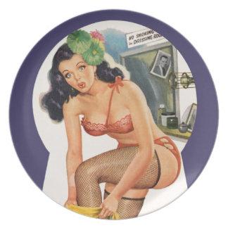 Button-Oben Platte Flacher Teller