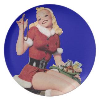Button-Oben Weihnachtsplatte Flacher Teller