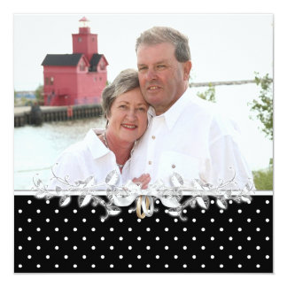 Button-Punkt-Hochzeits-Versprechen-Erneuerung Quadratische 13,3 Cm Einladungskarte