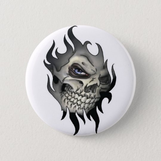 Button, Totenkopf Runder Button 5,1 Cm