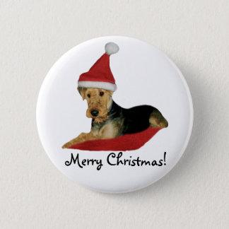 """Button Weihnachten """"Airedale Terrier"""""""