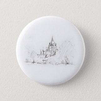 Buttons Zeichnung Hannover Rathaus Landschaft
