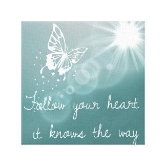 Buttterflies wissen…. leinwanddruck