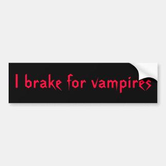 BV, I Bremse für Vampires-Autoaufkleber Autoaufkleber