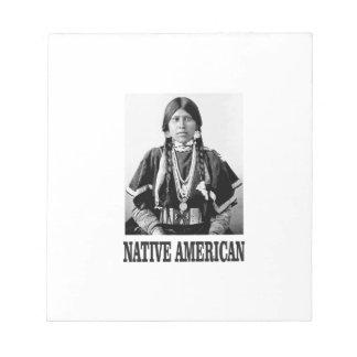 bw-amerikanischer Ureinwohner Notizblock