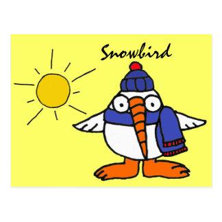 BW lustige Snowbird-Postkarte
