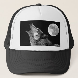 BW-Wolf, der am Mond heult Truckerkappe