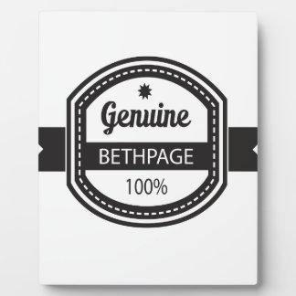 bX - Hometown-Reihe - Bethpage Fotoplatte