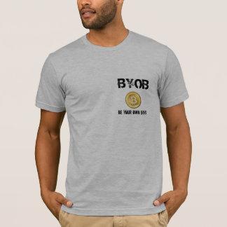 BYOB ist Ihre eigene Bank - Bitcoin T-Shirt u. qr