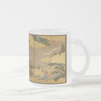 byobu Japaner gemalter Schirm Mattglastasse