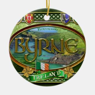 Byrne Familien-Fahne Keramik Ornament