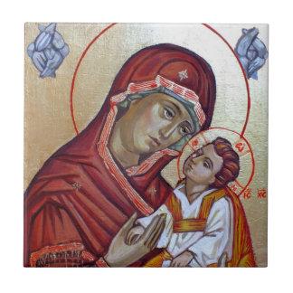 Byzantinische Art-Ikone der Heiliger Maria Keramikfliese