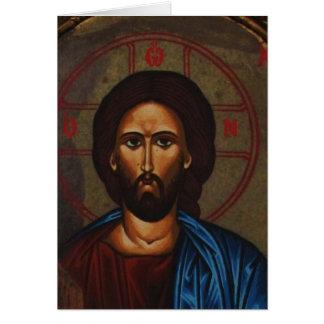 Byzantinischer griechischer orthodoxer Ikone JESUS Karte