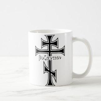 Byzantinisches Kreuz u. Eagle Kaffeetasse