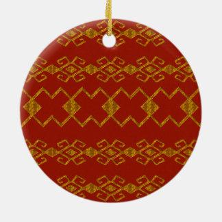Byzanzrot und -gold rundes keramik ornament