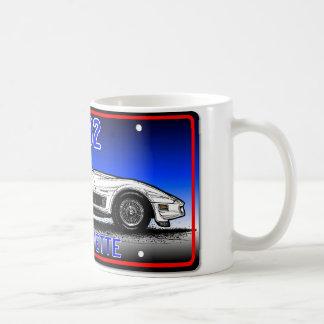 C3 Korvette Kfz-Kennzeichen-Kunst-Blauer Kaffeetasse