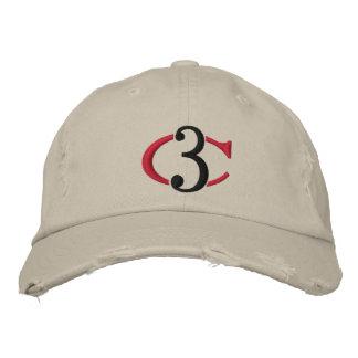 C3 Logo beunruhigter Chino justierbarer Hut Baseballcap