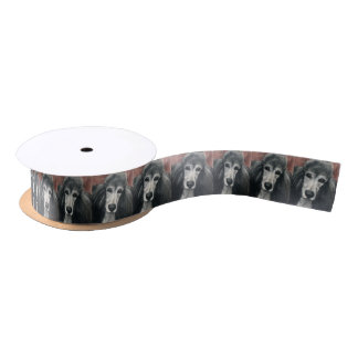 C4silberwährungs-Pudel-Hundekunst-Band Satinband