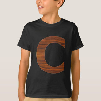 C - Buchstabe T-Shirt