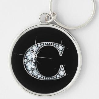 """""""C-"""" Diamant Bling Keychain Schlüsselanhänger"""
