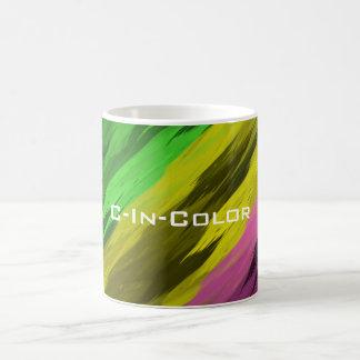 C-In-Farbediagonaler Mehrfarbendruck Kaffeetasse