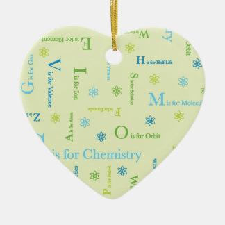 C ist für Chemie Keramik Herz-Ornament