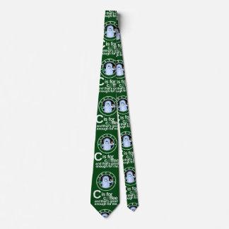 C ist für Kaffee-Krawatte (Grün) Personalisierte Krawatten