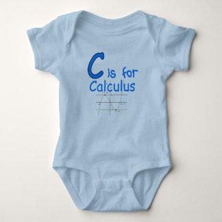 C ist für Kalkül Baby Strampler