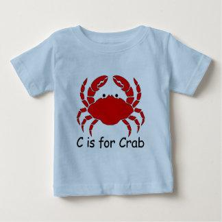 C ist für Krabbe Baby T-shirt