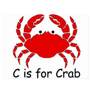 C ist für Krabbe Postkarte