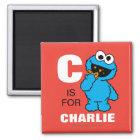 C ist für Plätzchen-Monster, das | Ihren Namen Quadratischer Magnet