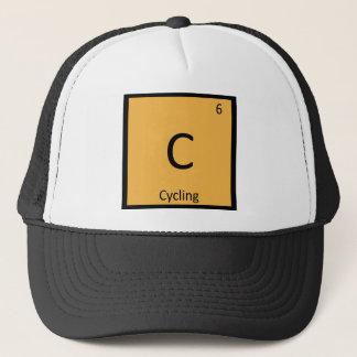 C - Radfahrensport-Chemie-Periodensystem-Symbol Truckerkappe