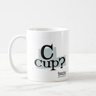 C-Schale, tägliche Fragen Kaffeetasse