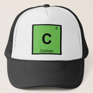 C - Zyklop-griechisches Chemie-Periodensystem Truckerkappe