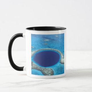 CA, Belize. Luftaufnahme des blauen Lochs Tasse