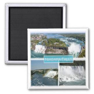 CA * Kanada - Niagara Falls USA Quadratischer Magnet
