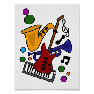 CA, Musik-Kunst-Plakat Poster