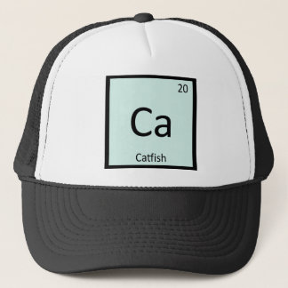 Ca - Wels-Fisch-Chemie-Periodensystem-Symbol Truckerkappe