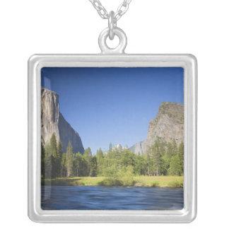 CA, Yosemite NP, Talansicht mit EL Capitan, Versilberte Kette