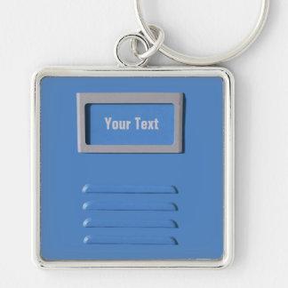 CAB-Dateikundenspezifische erstklassige Schlüsselk Silberfarbener Quadratischer Schlüsselanhänger