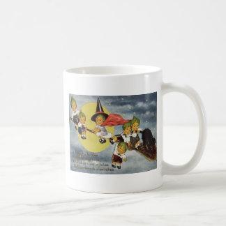 Cabbagehead Hexe-schwarze Katzen-Vollmond Kaffeetasse