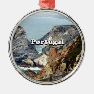 Cabo DA Roca: Portugal Silbernes Ornament